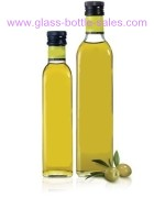 250ml and 500ml Clear Square Olive Oil Glass Bottle
