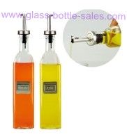 Clear Olive Oil Glass Bottle