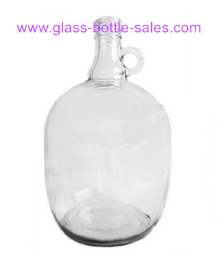 3L Clear California Glass Bottle With Handle