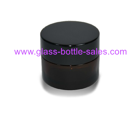 20g,30g,50g Amber Glass Cosmetic Jar With Lid