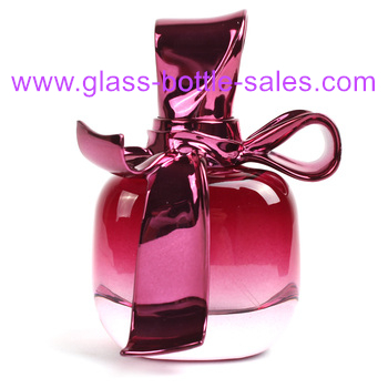 50ml Bowknot Colored Perfume Glass Bottle