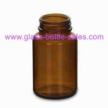 150ml Wide Mouth Amber Glass Bottle for Tablet