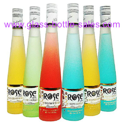 375ml Frost Glass Bottle For Apple Juice