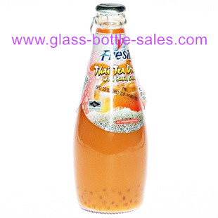 Bowling Style Glass Bottle for Carbonated Beverage