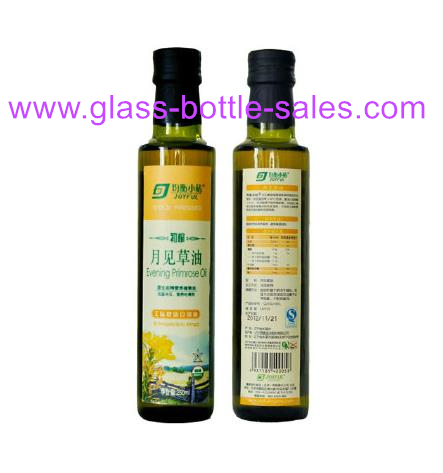 250ml Dorica Dark Green Olive Oil Glass Bottle With Cap