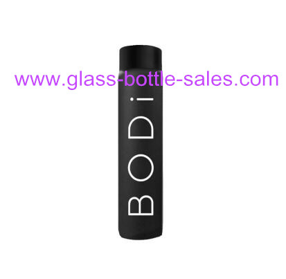 550ml Black Water Glass Bottle For VOSS Style With Cap
