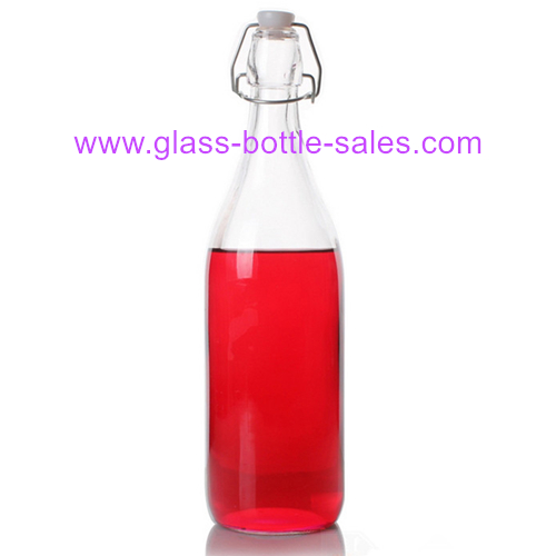 500ml Clear Round Swing Top Glass Bottle