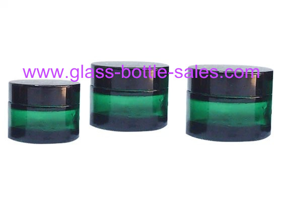 20g,30g,50g Green Glass Cosmetic Jar With Lid