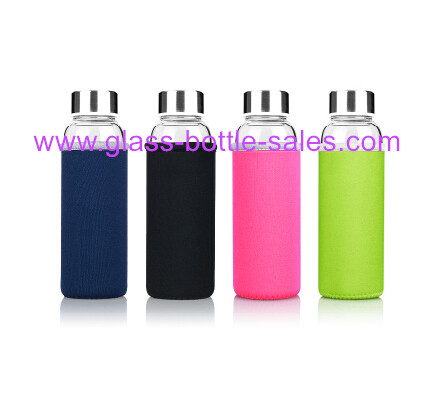 300ml Clear Water Glass Bottle With Cap