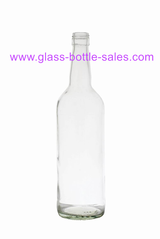 750ml Clear Glass Whiskey Bottle