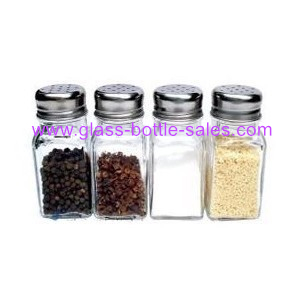 100ml Clear Empty Spice Glass Jar With Metal Lid