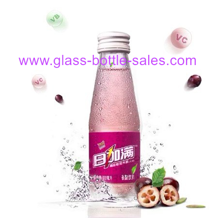 100ml Clear Glass Juice Bottle With Cap
