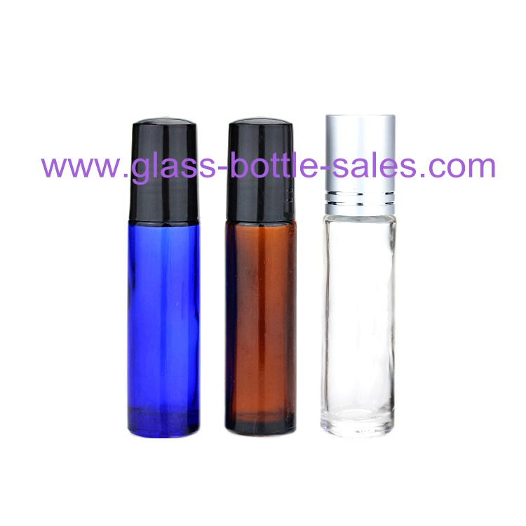 10ml Clear,Amber,Blue Perfume Roll On Glass Bottles