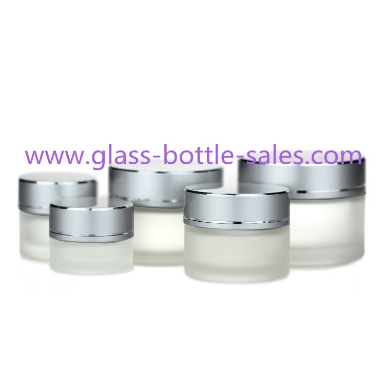 Frost Round Glass Cosmetic Jar