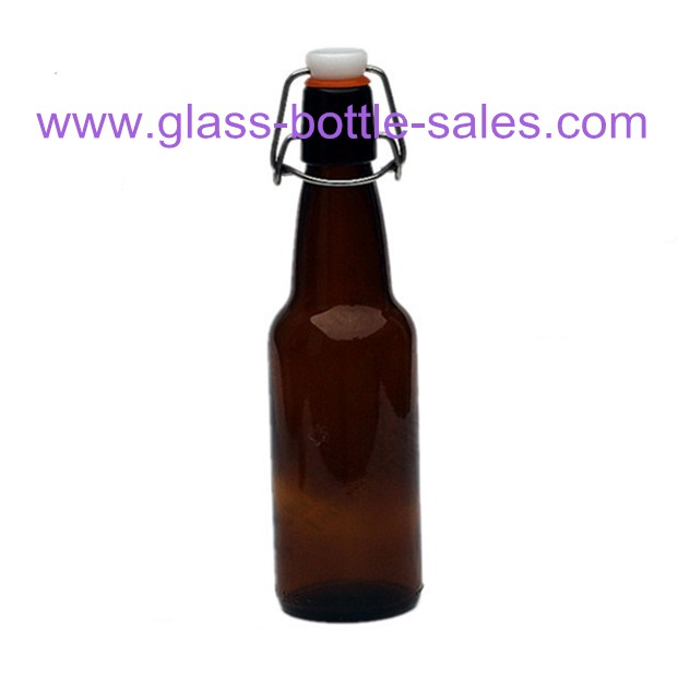 330ml Flip Top Amber Beer Glass Bottle