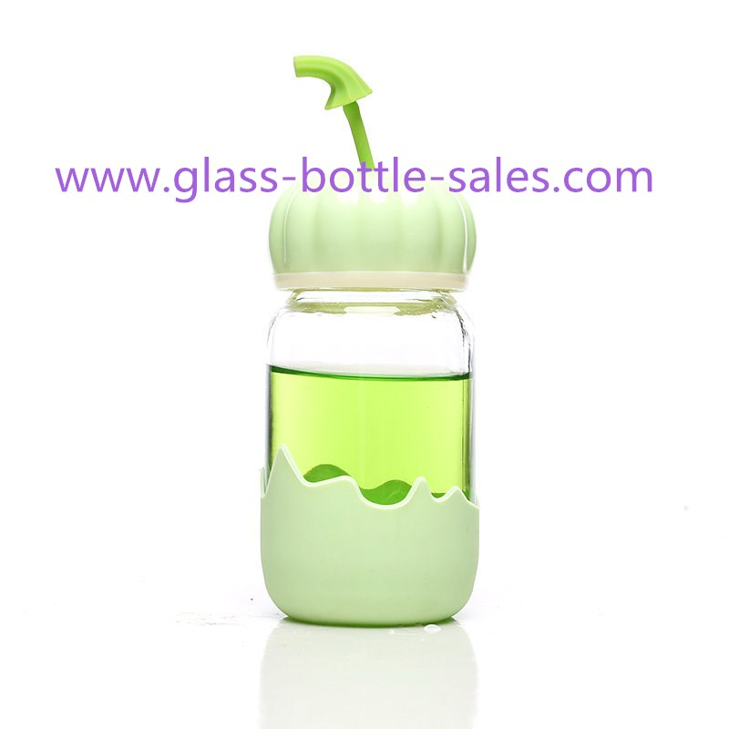 300ml New Design Water Glass bottle With Caps