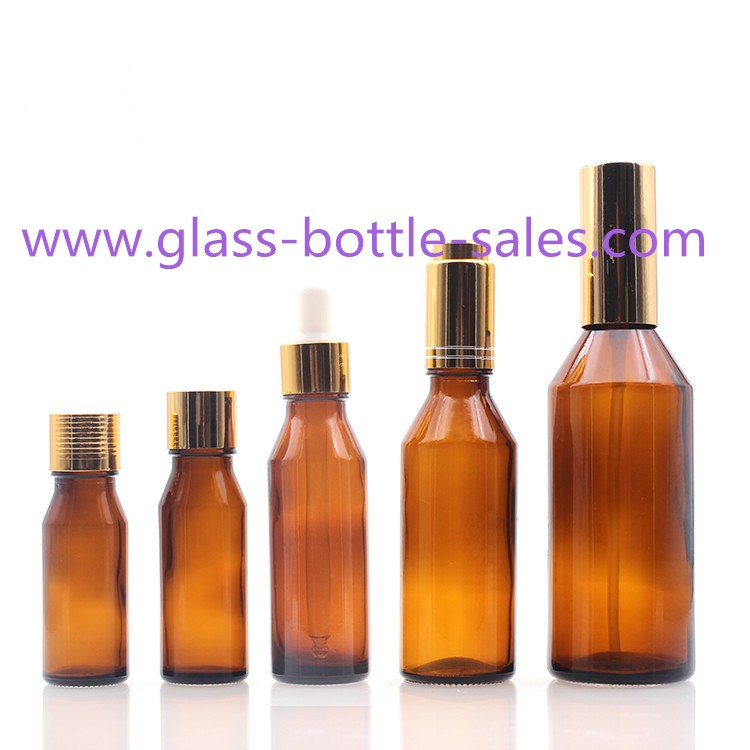 Amber European Design Essential Oil Glass Bottles