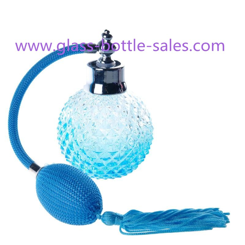 100ml Blue Gas Perfume Sprayer Glass Bottle