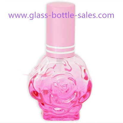 12ml Mini Pink Flower Perfume Glass Bottle