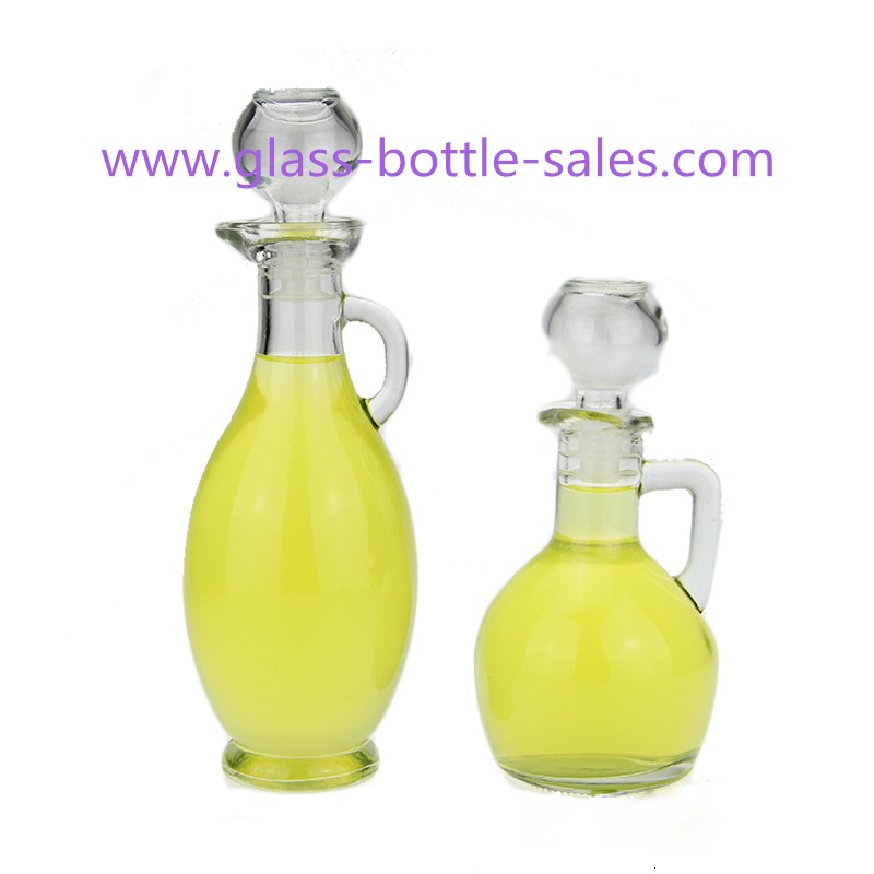 180ml,250ml Clear Bird Style Olive Oil Glass Bottle With Handle