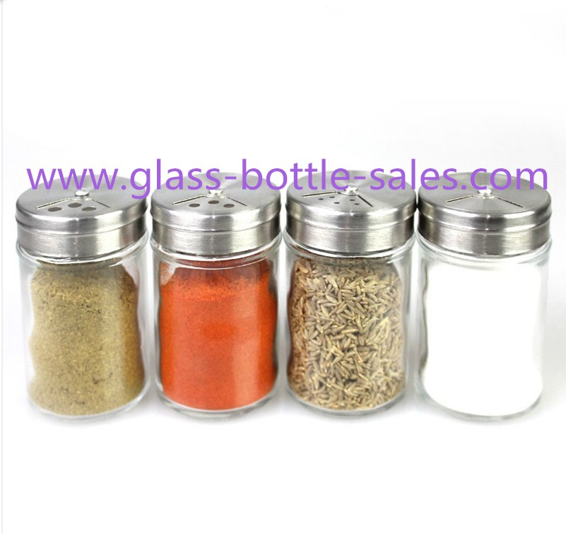 100ml Clear Round Spice Glass Jar