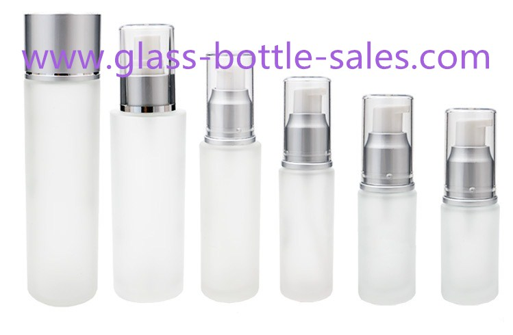 15ml-120ml Frost Round Glass Lotion Bottles