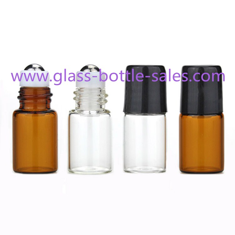 3ml Clear,Amber Perfume Roll On Bottles