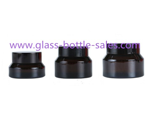 15g,30g,50g Amber Sloping Shoulder Glass Cosmetic Jars