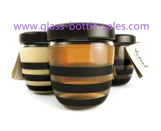 500g New Item Clear Glass Honey Jar