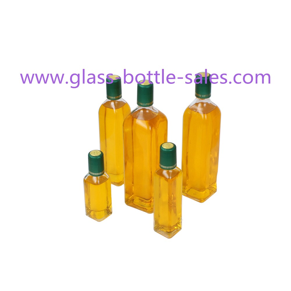 50ml-1000ml Clear MARASCA Olive Oil Glass Bottels With Caps