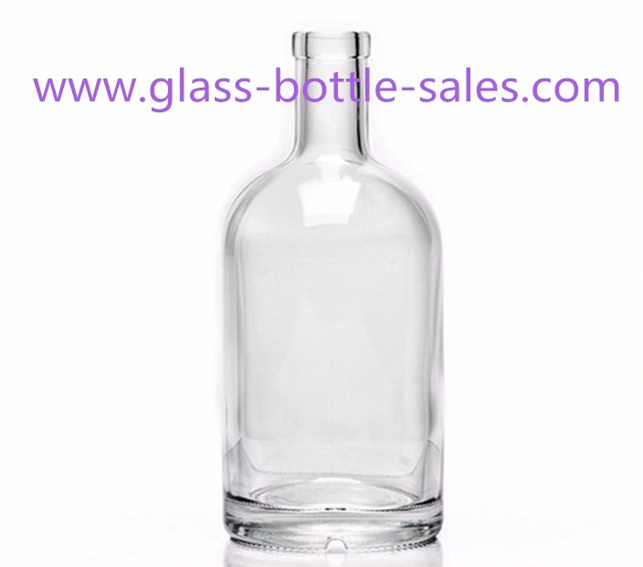 200ml-1000ml Clear High Flint Vodka Glass Bottle