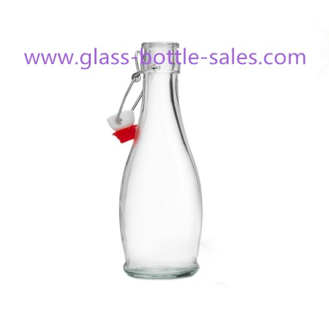 350ml New Item Clear Swing Top Glass Beverage Bottle