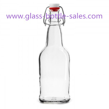 500ml Clear Swing Top Beer Glass Bottle