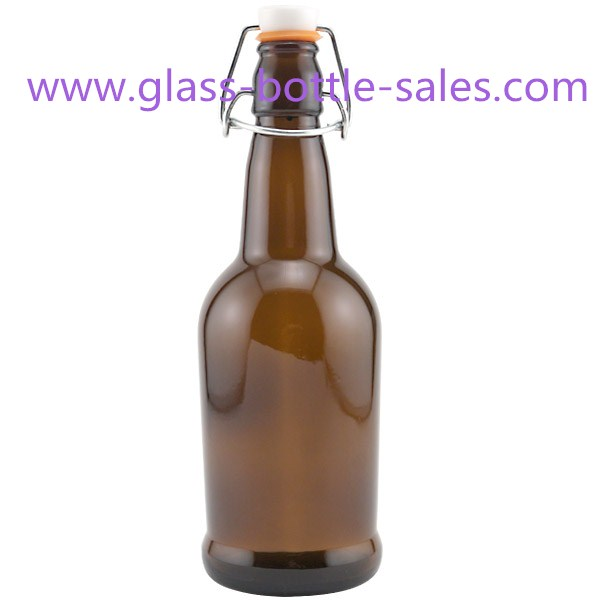 500ml Amber Swing Top Beer Glass Bottle