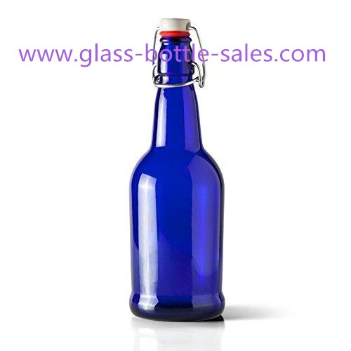500ml Flip Top Blue Beer Bottle