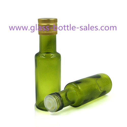 100ml Dark Green Round Olive Oil Bottle