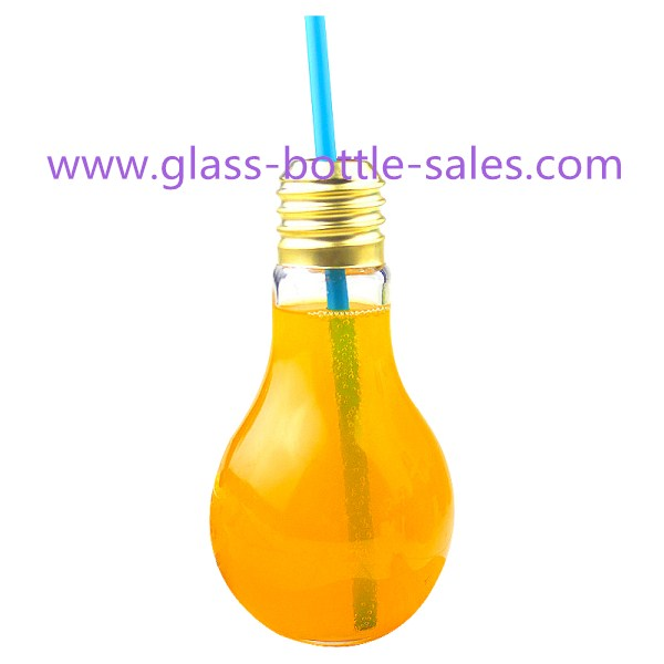 50ml-800ml Clear Bulb Glass Juice Bottle