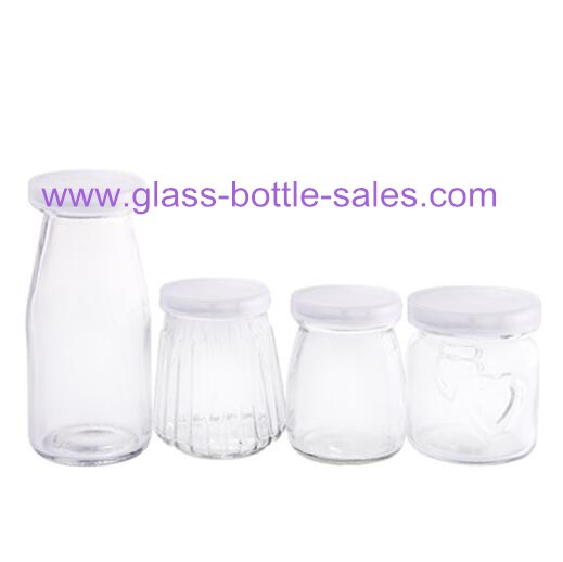 100ml,150ml,200ml Clear Glass Pudding Bottles