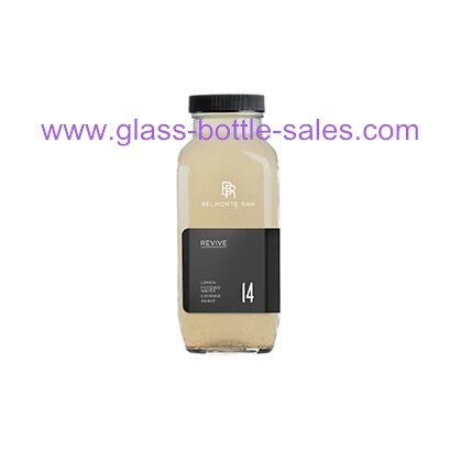 500ml Clear Square Beverage Glass Bottle