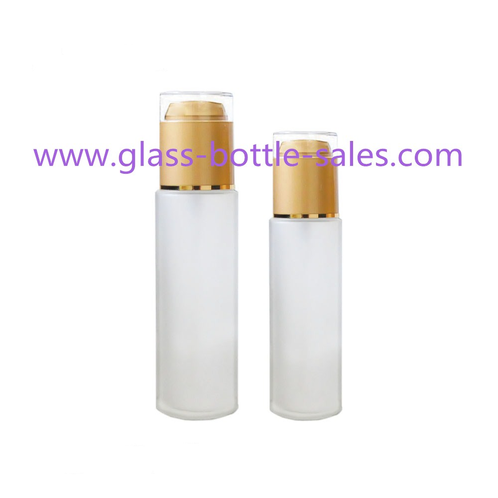 Cylinder Frost Glass Lotion Bottles
