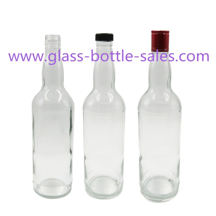 700ml Clear Whiskey Glass Bottle