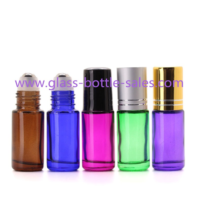 5ml Round Perfume Roll On Bottles With Caps And Rollers