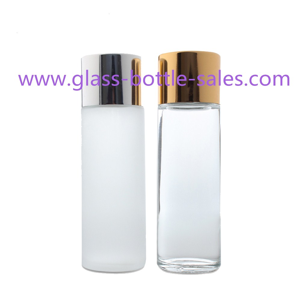 100ml,120ml Clear/Frost Cylindrical Glass Lotion Bottles