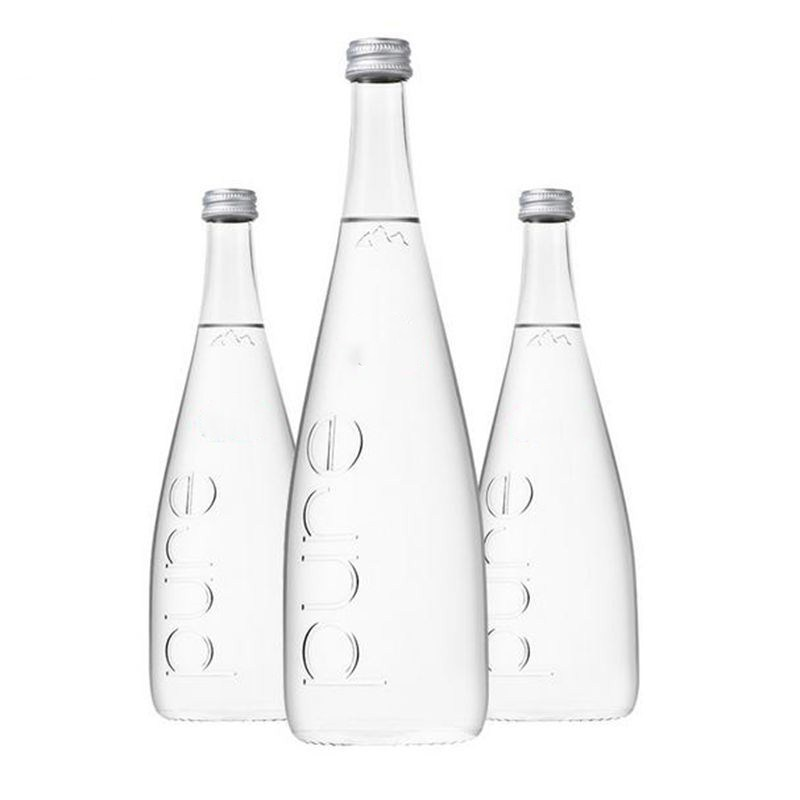 330ml,500ml Clear Evian Mineral Water Glass Bottles