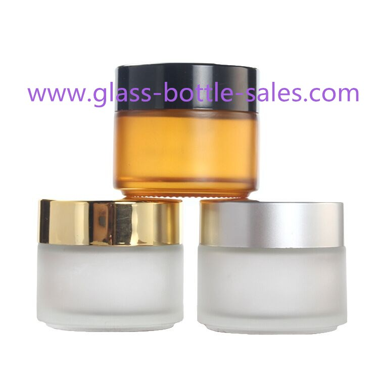 100g Round Glass Cosmetic Jars With Lids