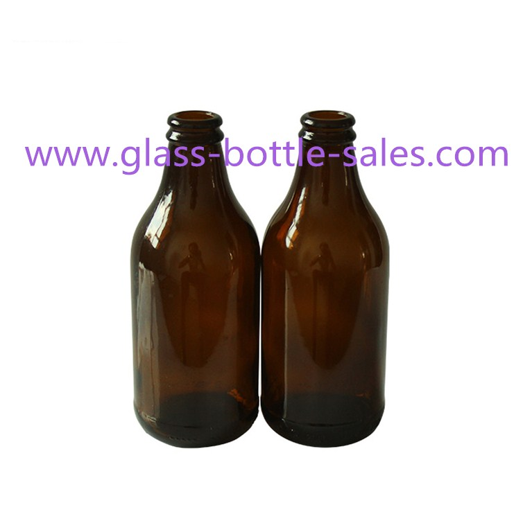 296ml Amber Beer Glass Bottle