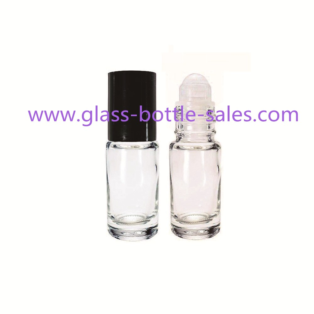 5ml Clear Round Perfume Roll On Bottle With Cap And Roller