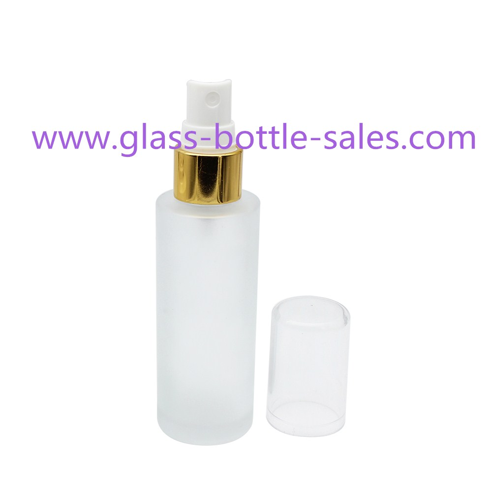 100ml,120ml,150ml Clear Round Glass Lotion Bottle With Pump
