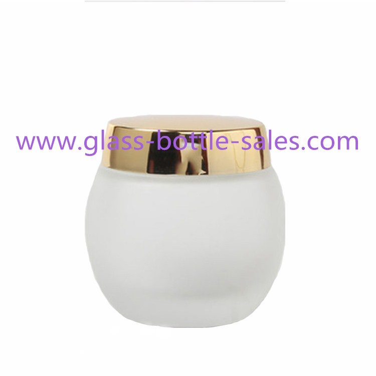120g Frost Glass Cream Jar With Lid