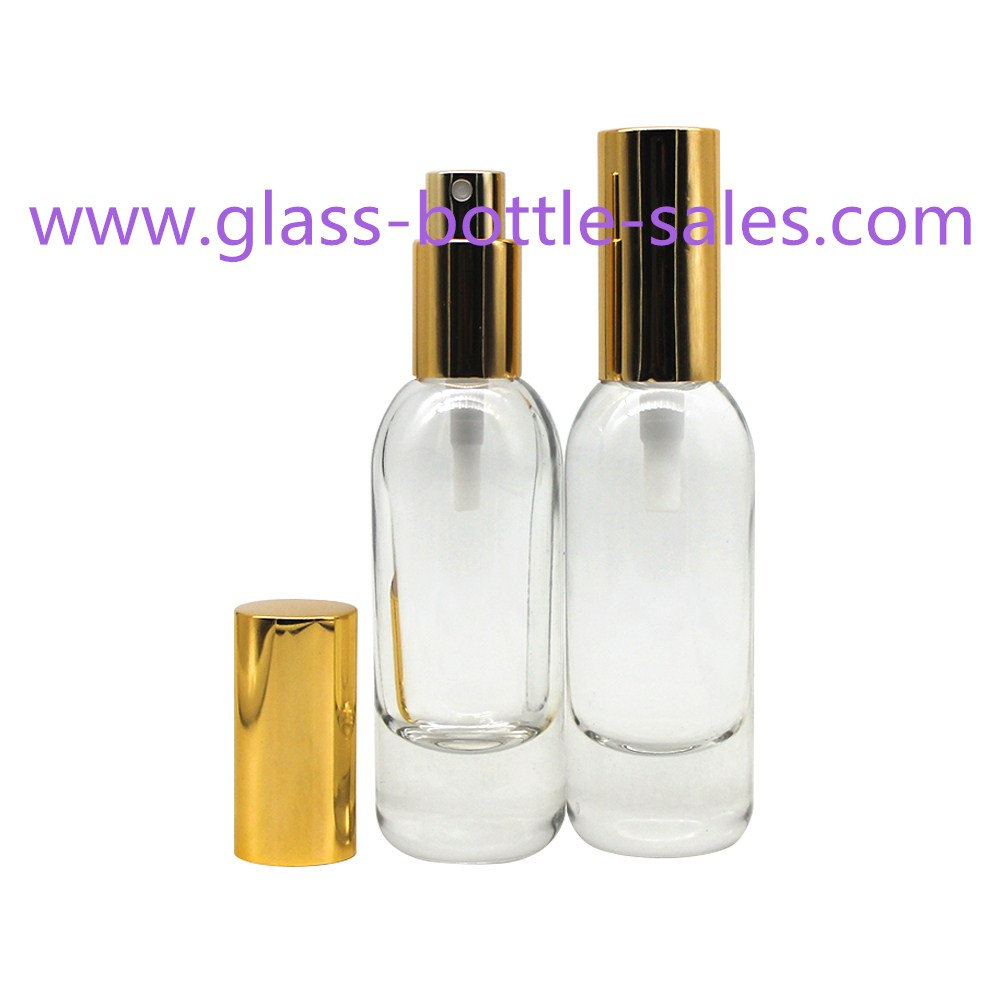 30ml New Item Fancy Clear Glass Cosmetic Bottle With Cap and Pump